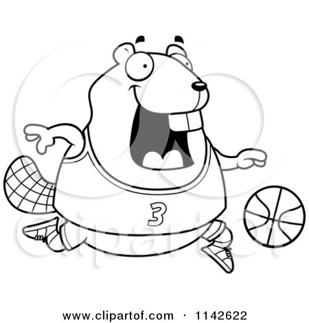 450x470 Cartoon Clipart Of A Black And White Chubby Badger Playing