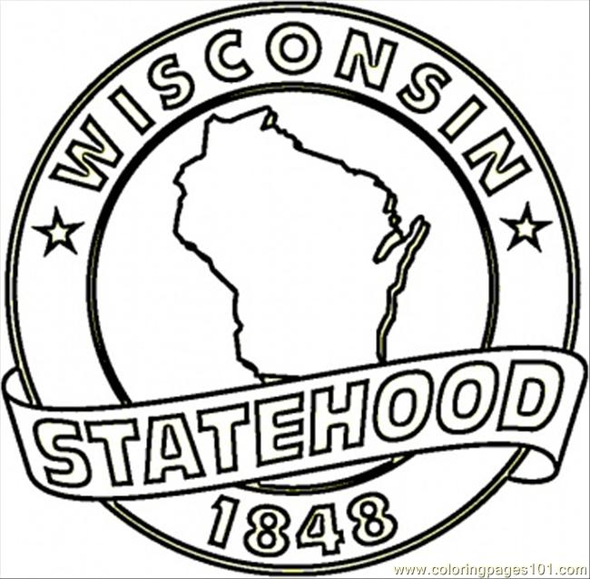 650x637 Wisconsin Coloring Pages