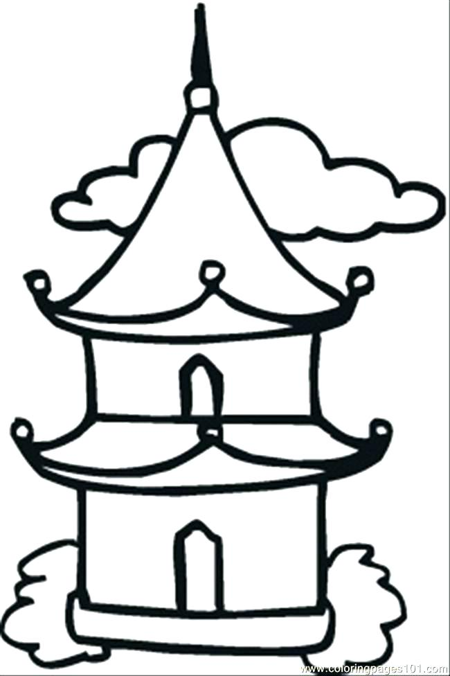 650x976 Buddha Coloring Pages Coloring Pages Little Temple Coloring Page