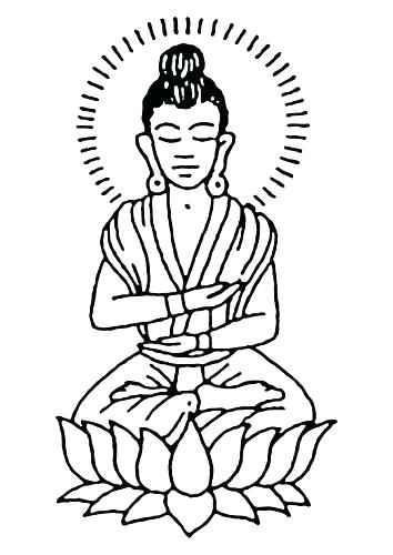 354x500 Buddha Coloring Page Coloring Pages Download Coloring Page
