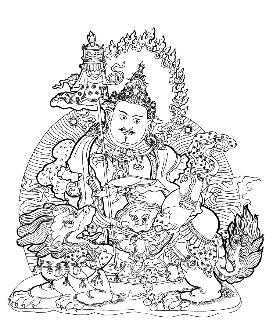 895x1074 Buddhism Coloring Pages
