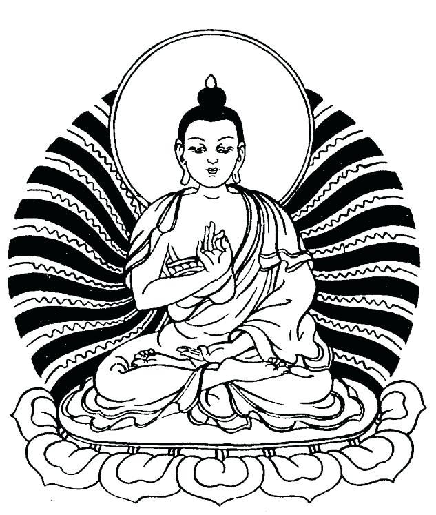 633x747 Buddhist Coloring Pages Art Line Drawings Best Buddhist Mandala