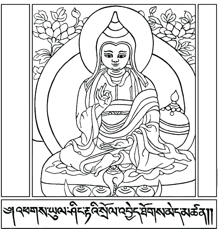 834x875 Buddhist Coloring Pages Coloring Page Free Printable Coloring