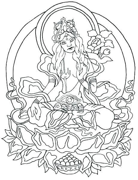 461x600 Buddhist Coloring Pages Mandala Coloring Pages New Mandala