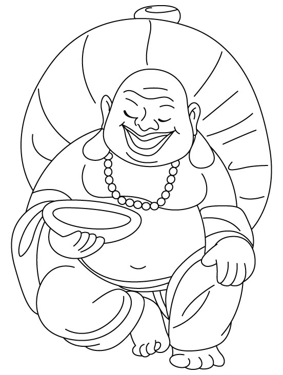 552x732 Laughing Buddha Coloring Pages