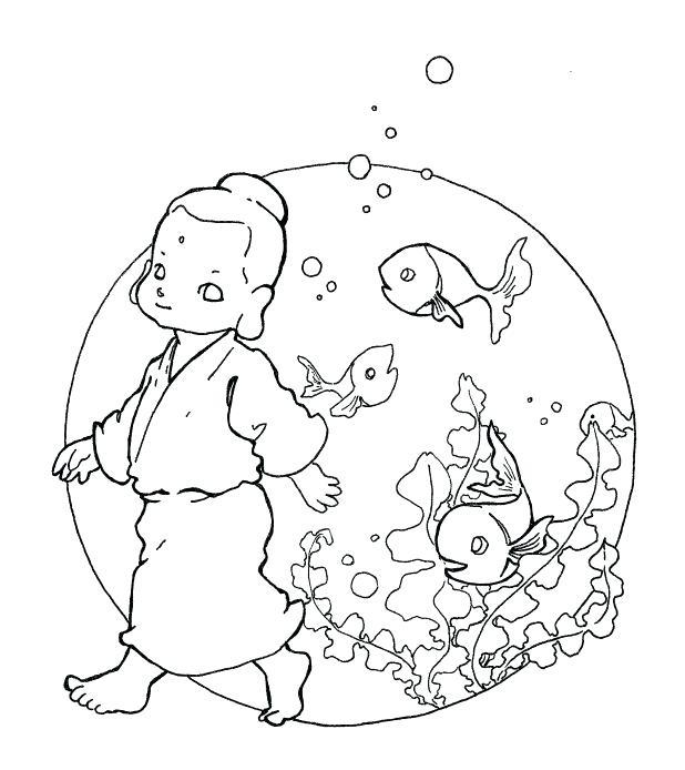 618x694 Buddha Coloring Page