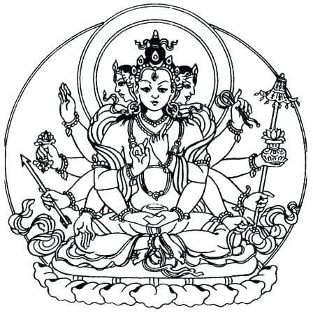 448x449 Buddha Coloring Pages Coloring Page Coloring Page Coloring
