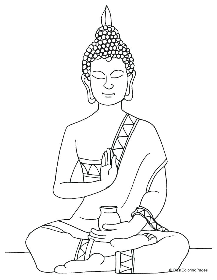 738x954 Buddha Coloring Pages Coloring Page Lord Statue Coloring Page