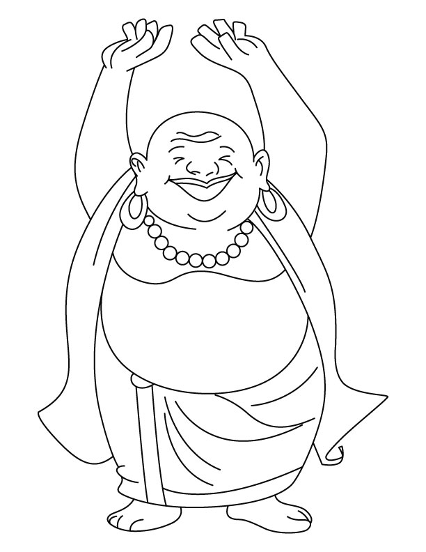 612x792 Buddha Coloring Pages Printable
