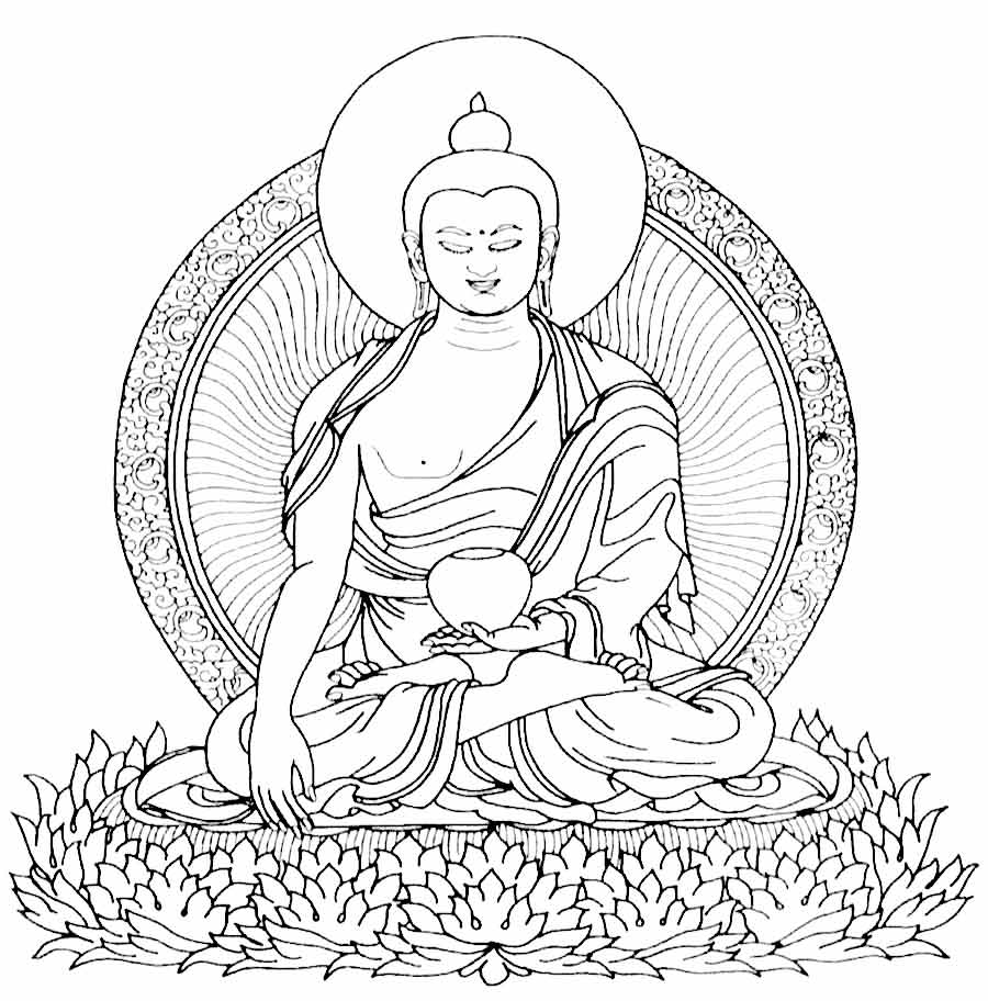 900x912 Buddha Coloring Pages Printable