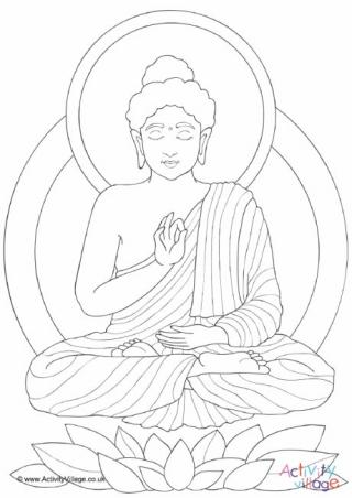 320x452 Buddha Colouring Page Alphabet Buddha And Learning