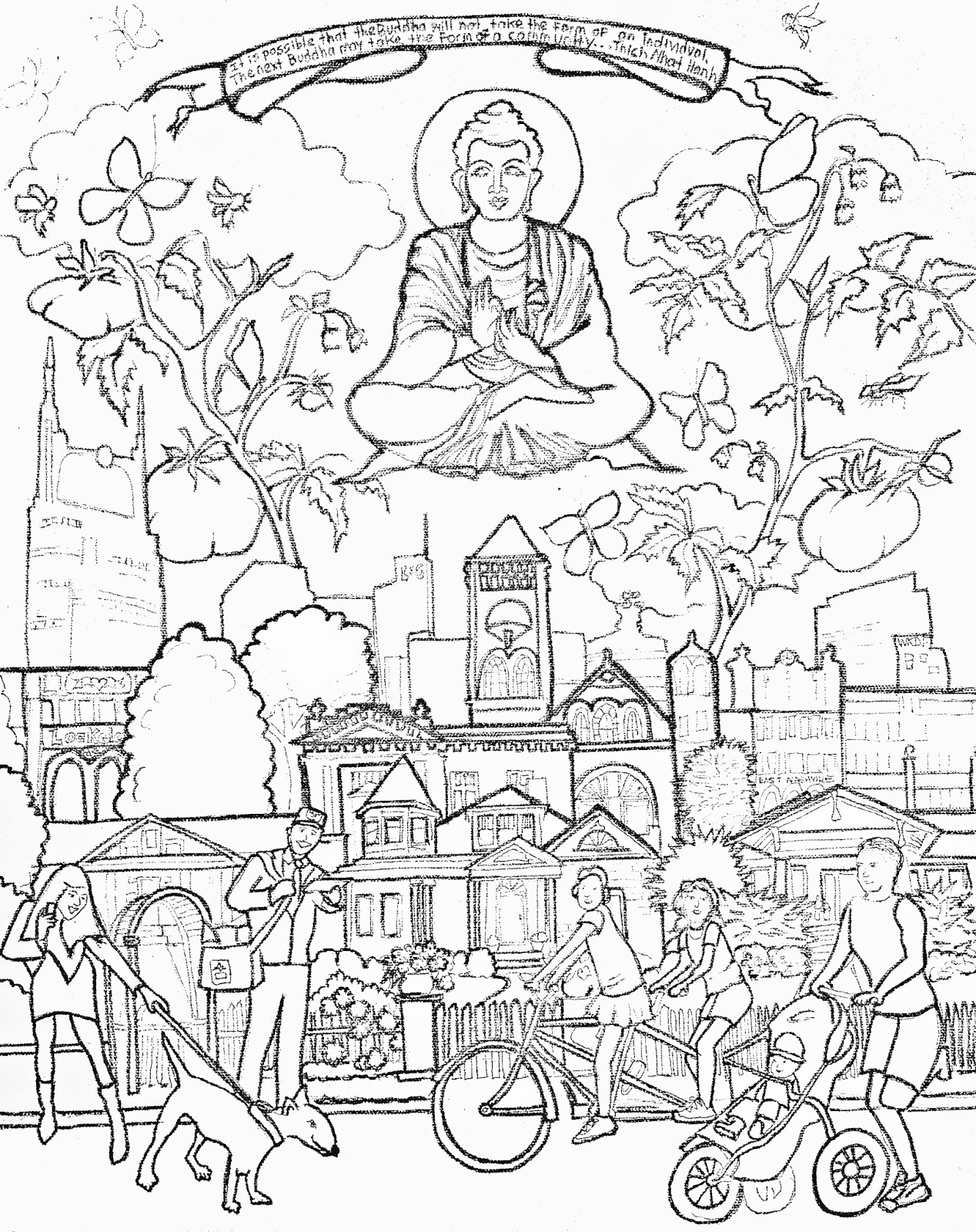 1268x1600 Buddhism Coloring Pages