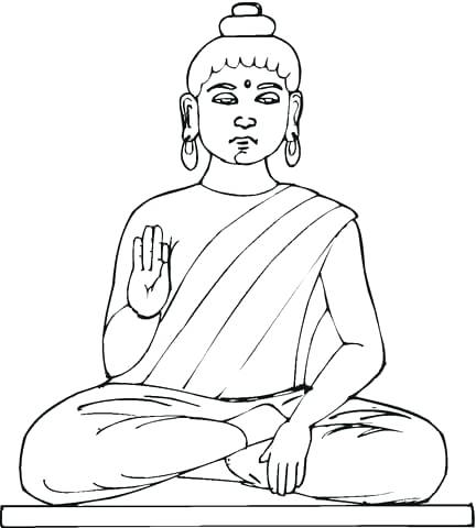432x480 Buddhist Coloring Pages Click To See Printable Version Of Statue