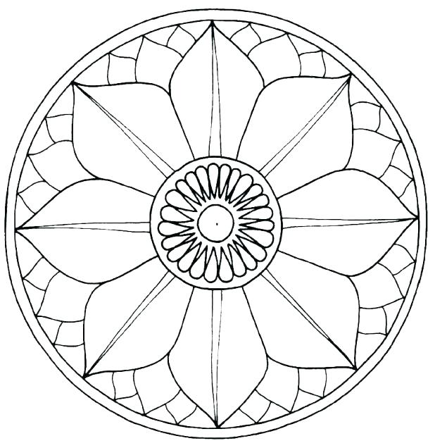 618x636 Buddhist Coloring Pages Mandala Coloring Pages Symbols For Free