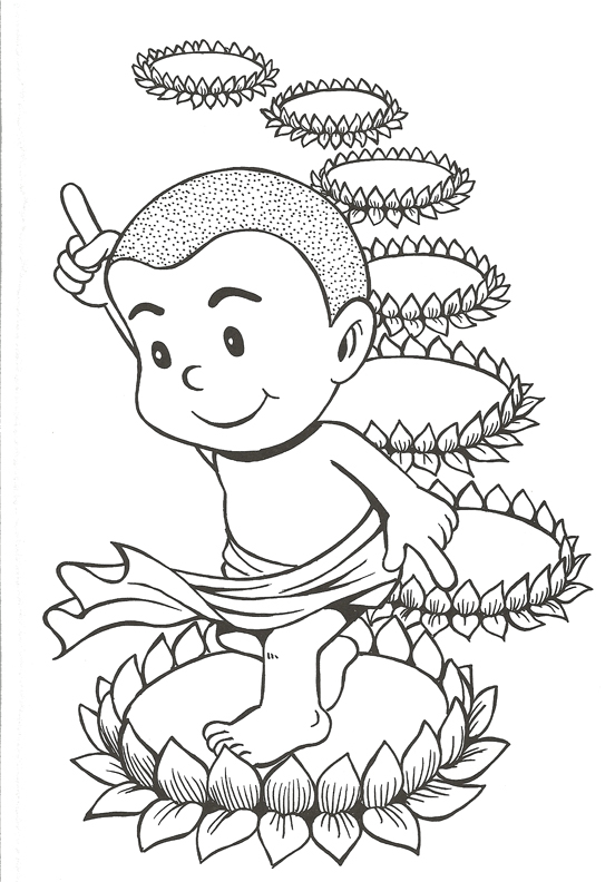 552x792 Cute Buddha Coloring Pages