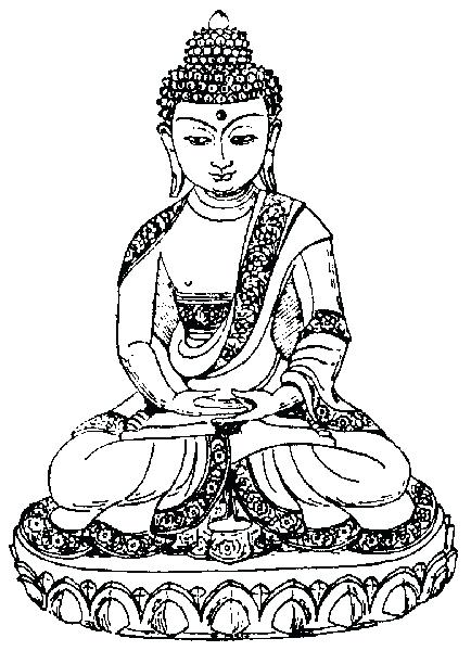 434x600 Buddha Coloring Page Coloring Page Buddhist Mandala Coloring Pages