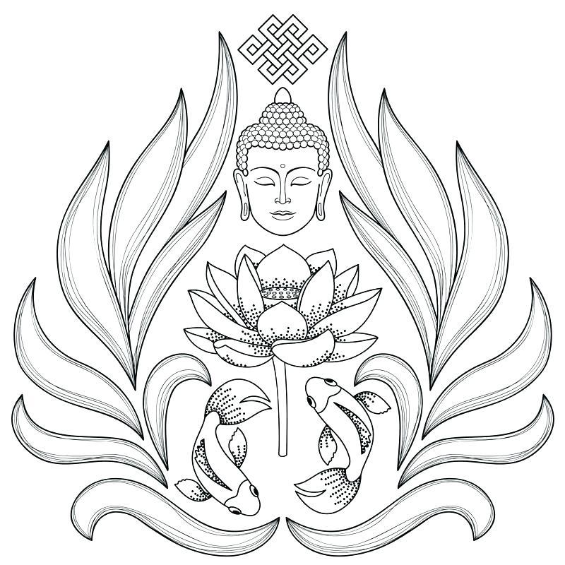 800x800 Buddha Coloring Page S Free Tibetan Mandala Coloring Pages