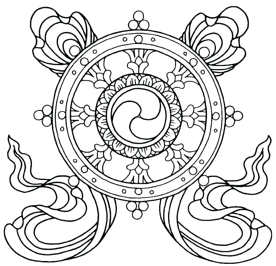 900x866 Buddha Coloring Pages Coloring Pages Symbols For Free