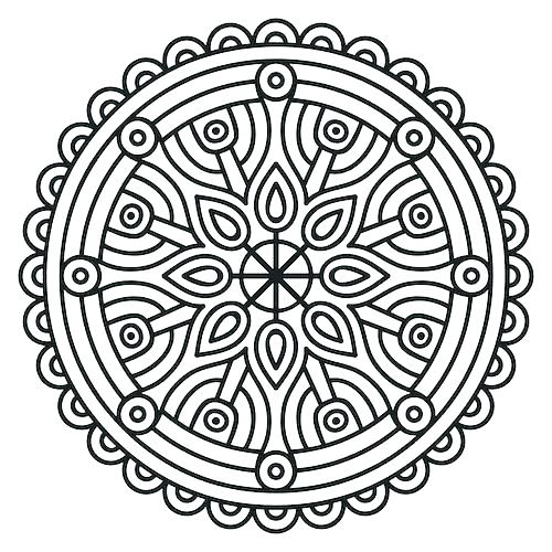 500x500 Buddhist Mandala Coloring Pages Cheap Modern Free Mandala Coloring