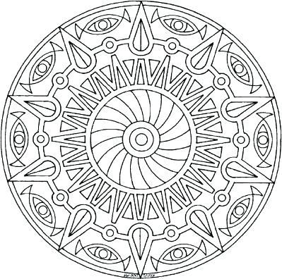 399x396 Tibetan Buddhist Mandala Coloring Pages Eye Free Fuhrer Von