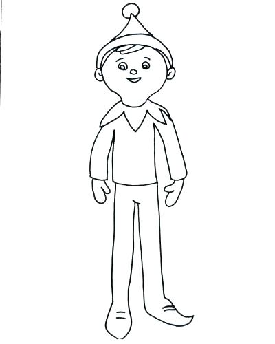 400x500 Elf Coloring Pages Free For Adults Colouring Page With Elves Kids