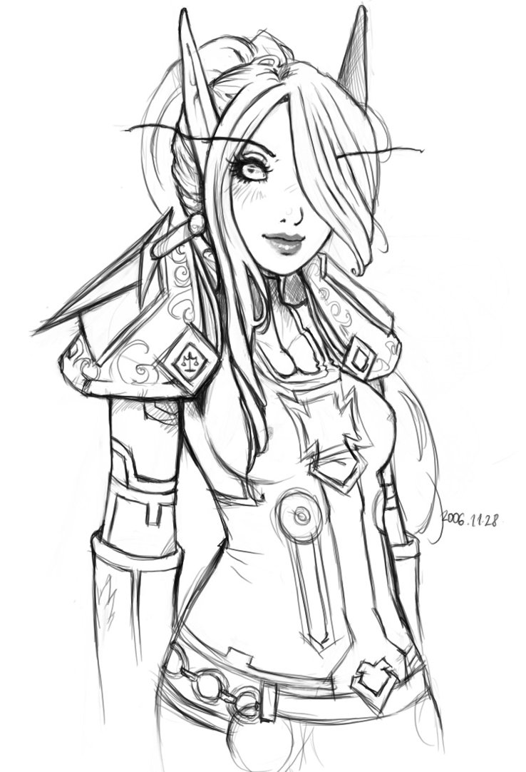 738x1082 Elf Warrior Coloring Page Elves And Creatures Elf