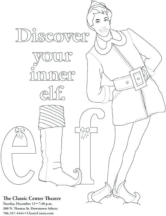 564x737 Elves Coloring Pages Buddy The Elf Coloring Pages Buddy The Elf