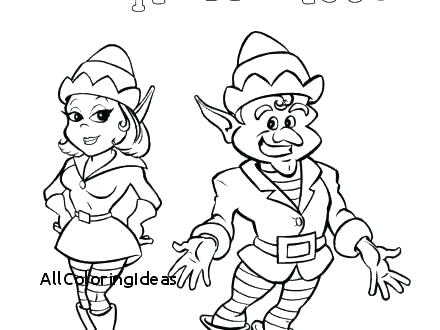 440x330 Girl Elf Coloring Page Buddy The Elf Coloring Pages Adult Elves
