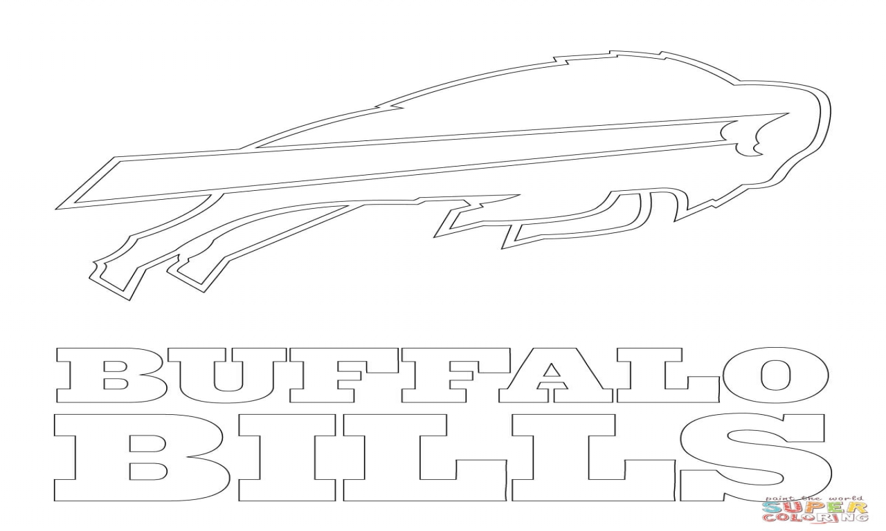 1280x768 Fox Logo Coloring Buffalo Bills Page Pages