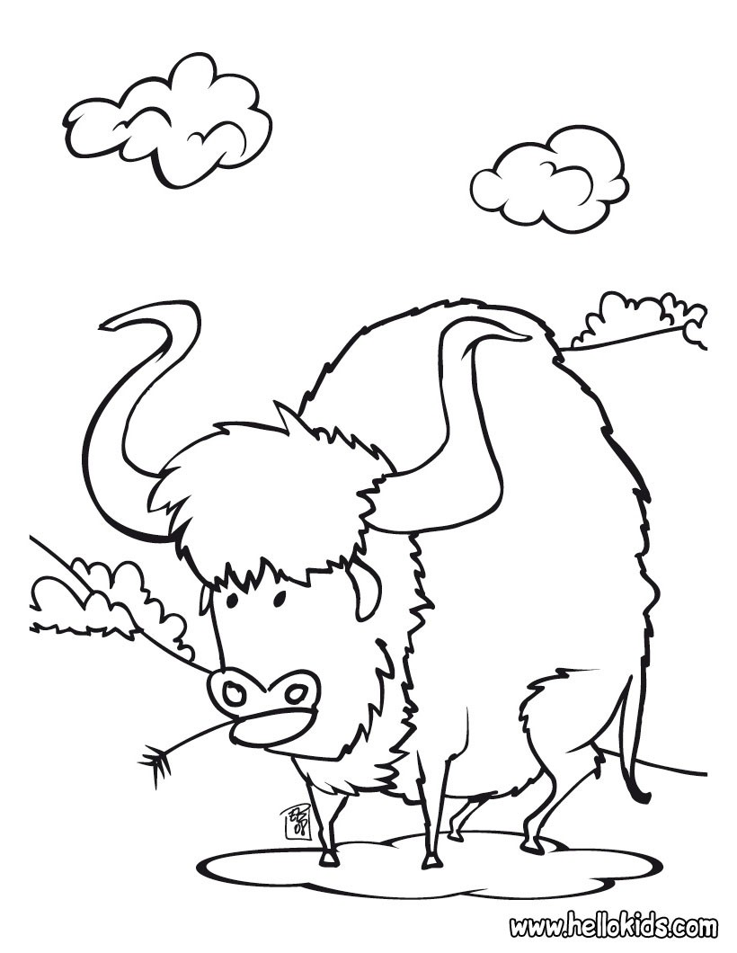 820x1060 Buffalo Coloring Pages