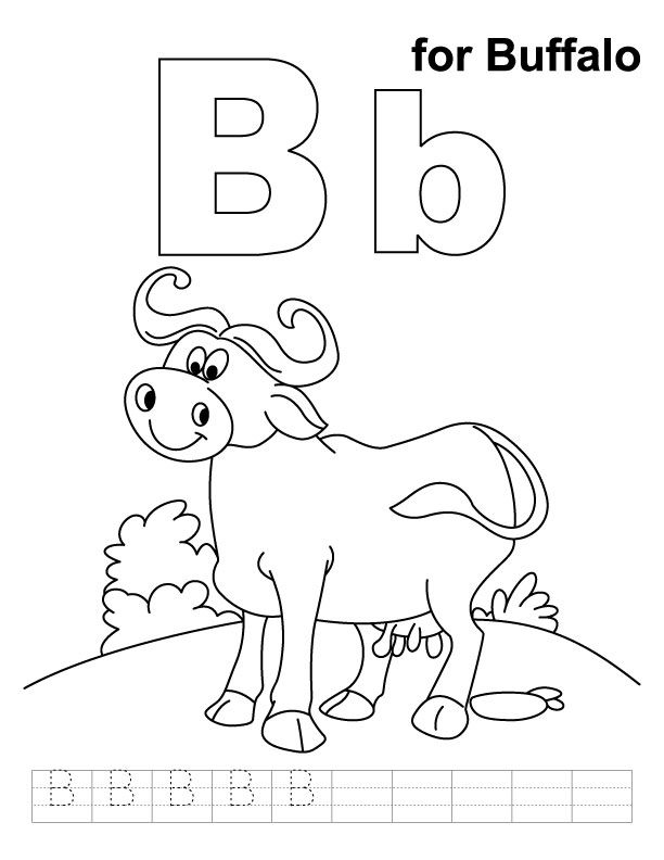 612x792 Online Buffalo Coloring Pages For Kids And Adults Animals