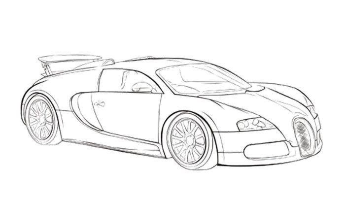 Bugatti Chiron Car Drawing