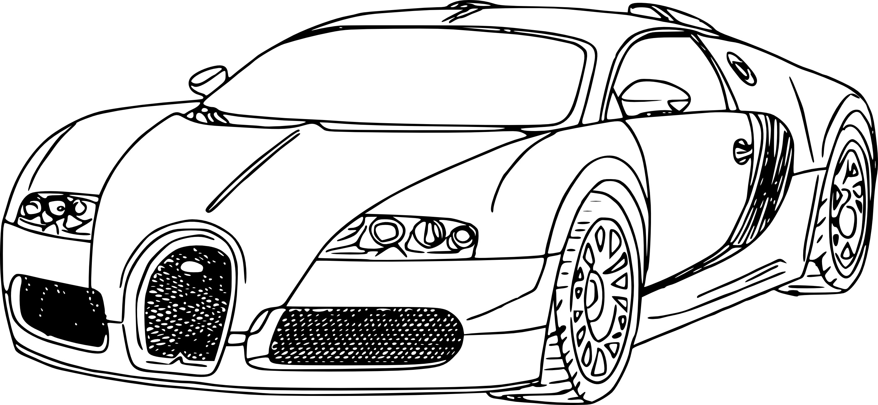 Bugatti Chiron Coloring Page at GetDrawings | Free download