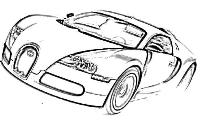 Bugatti Veyron Coloring Pages At Getdrawings Com Free For Personal
