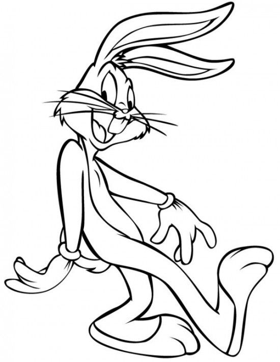 550x711 Bugs Bunny Coloring Pages Picture Picture Looney Tunes