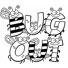 230x230 Bugs Coloring Pages Printables Free