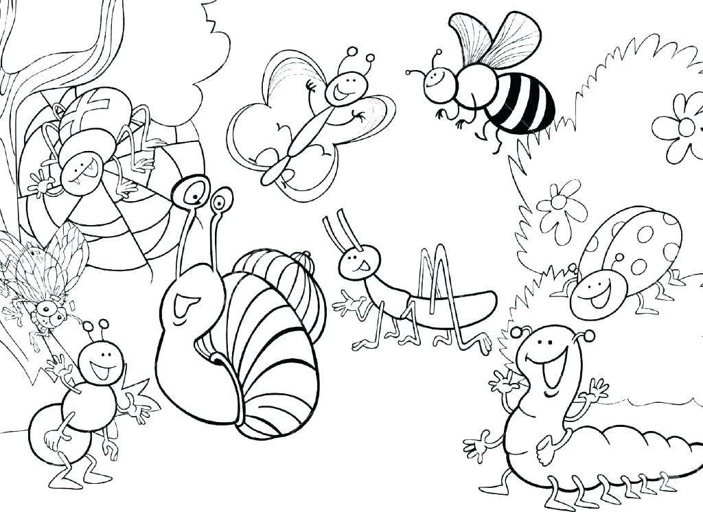 1024x746 Marvelous Bug Coloring Pages Bug Coloring Pages For Preschool Bugs