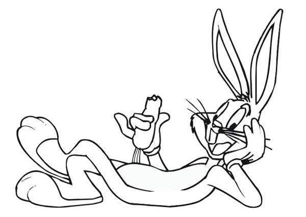 600x425 Bugs Bunny Coloring Pages Preschool For Fancy Image Printable