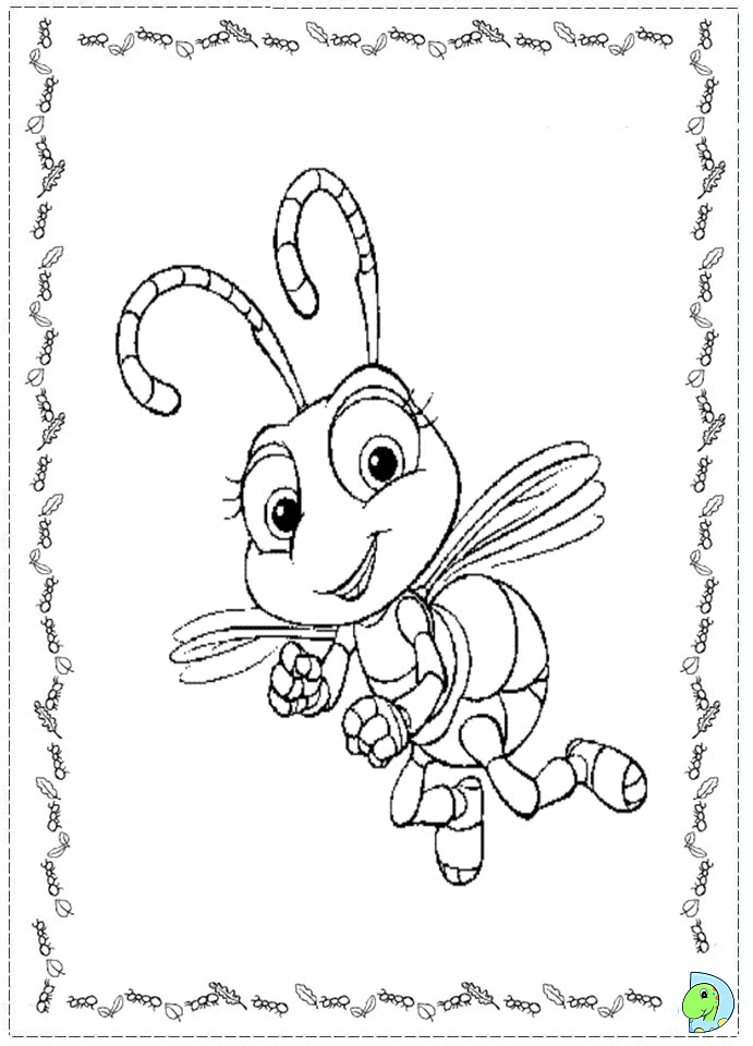 691x960 Bug's Life Coloring Pages