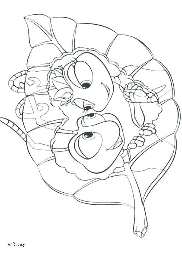 607x850 Love Bug Coloring Pages A Bugs Life Coloring Pages Love Bug