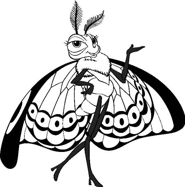 600x608 Princess Atta Mother The Queen In Bugs Life Coloring Pages Batch