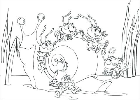 480x343 Bugs Life Coloring Pages