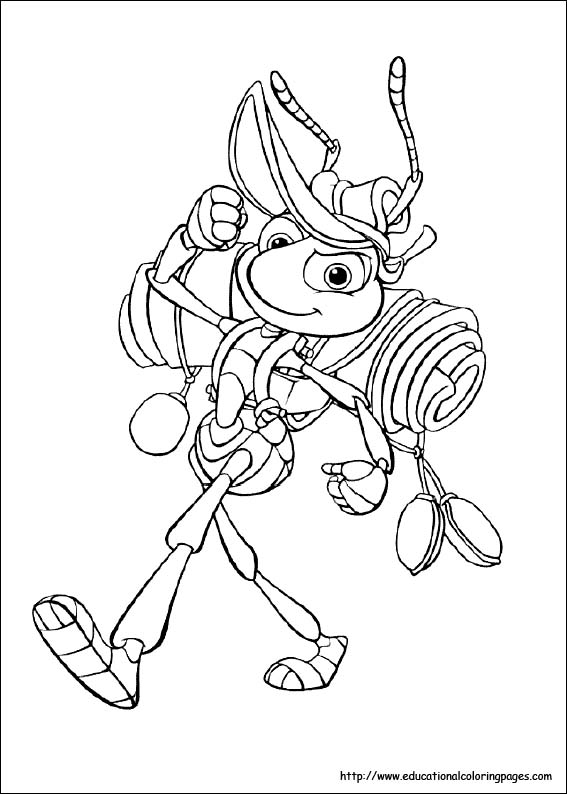 567x794 A Bug's Life Coloring Pages