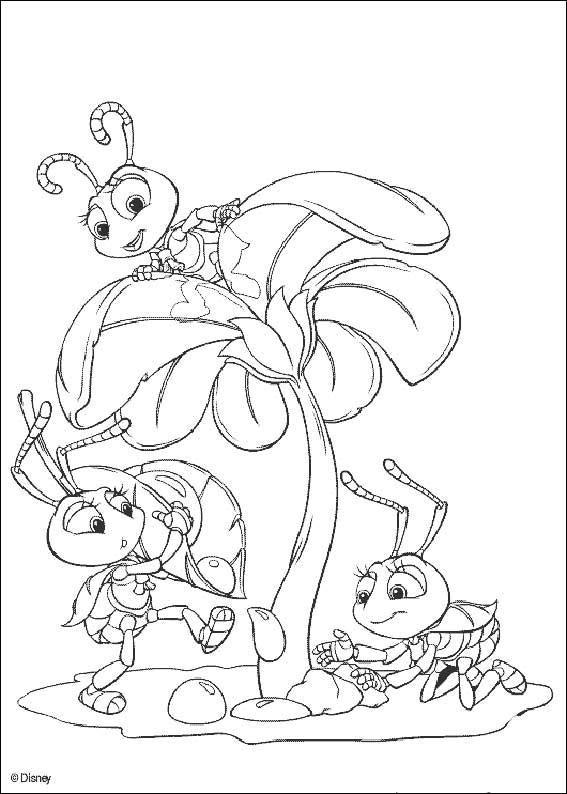 567x794 A Bugs Life Coloring Page