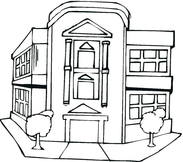 630x556 Building Coloring Pages Building Coloring Pages Library Building