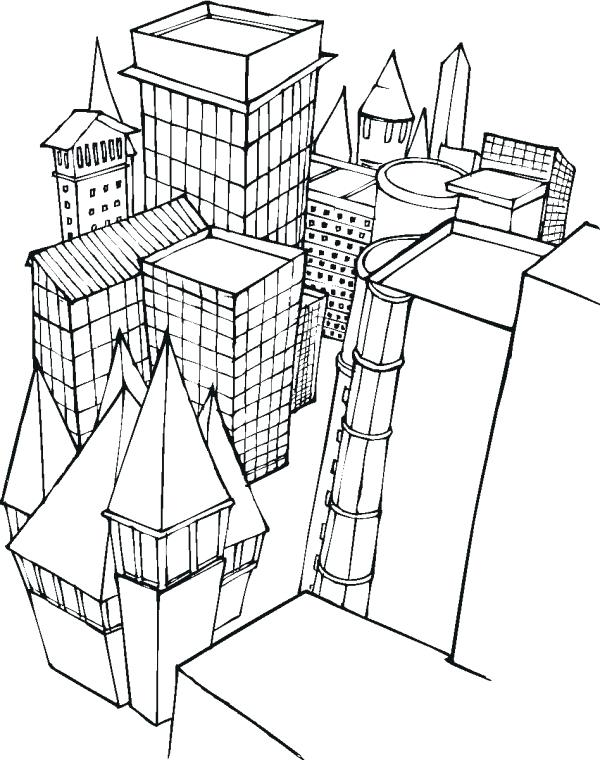 600x760 Building Coloring Pages Printable Coloring Top Building Coloring