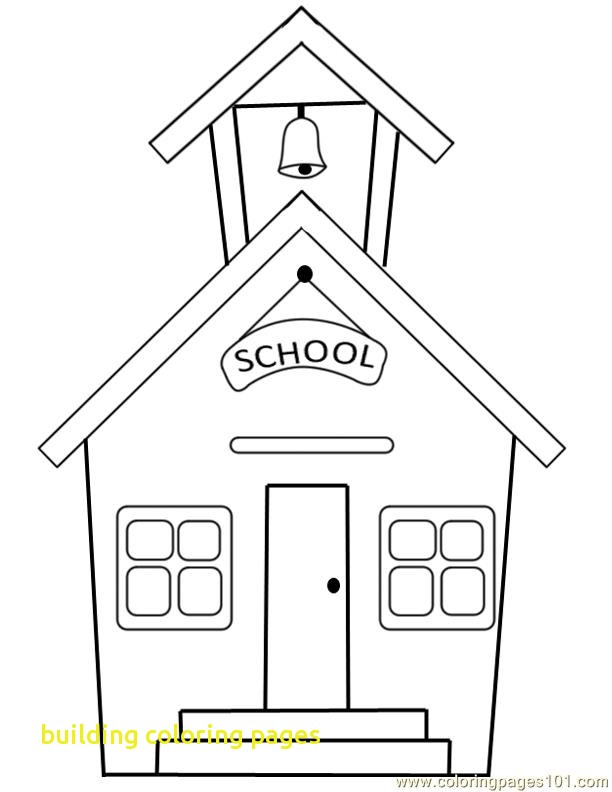 612x792 Building Coloring Pages With Coloring Page A School Small