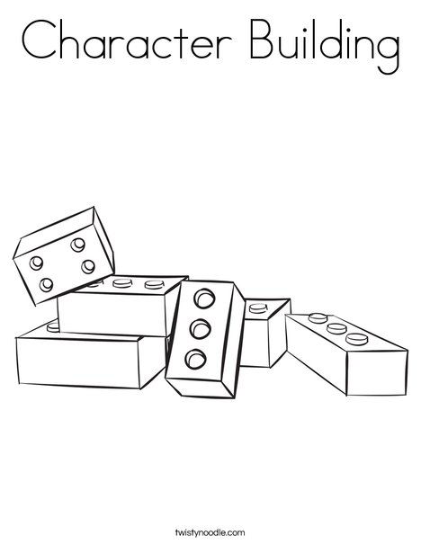 468x605 Character Building Coloring Page
