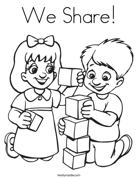 468x605 We Share Coloring Page