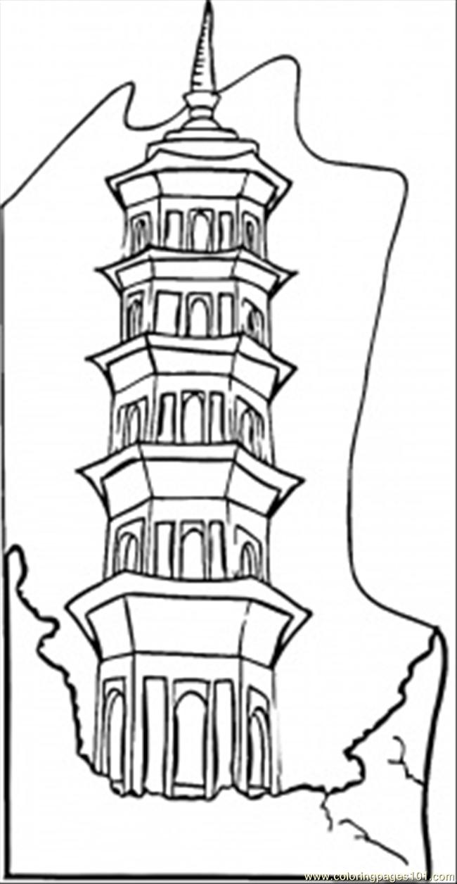 650x1256 High Building Coloring Pages
